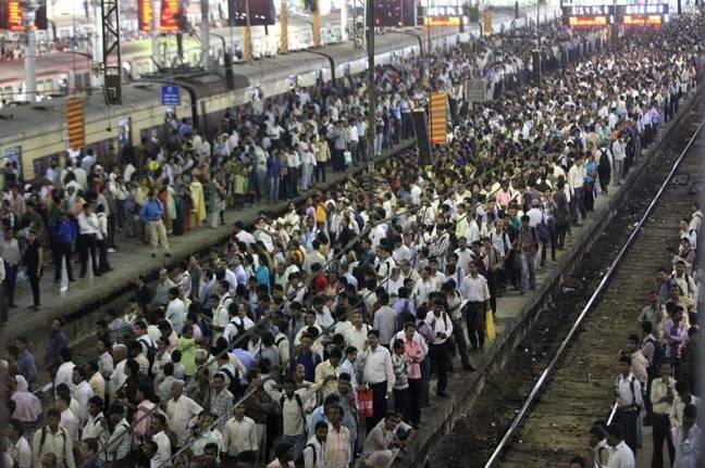 Mumbai Local Rush